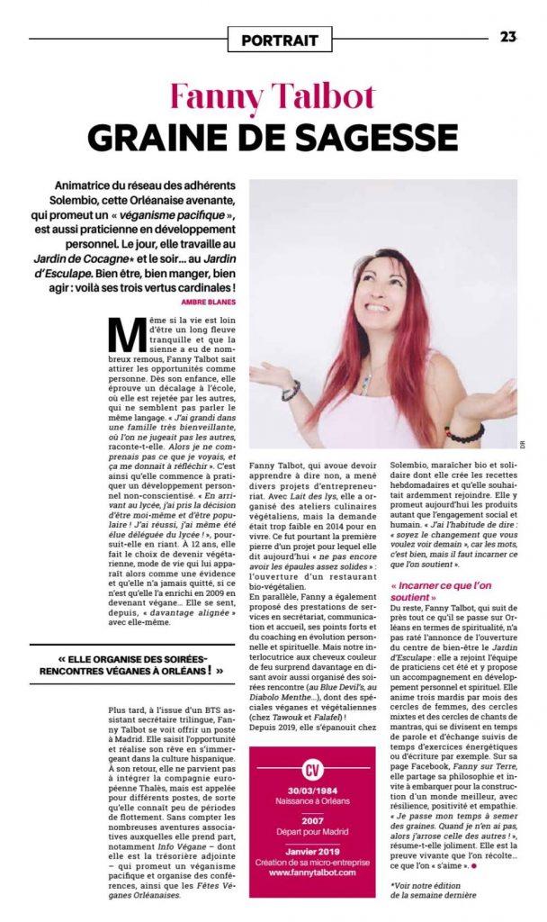 Article Tibune Hebdo Décembre 2020